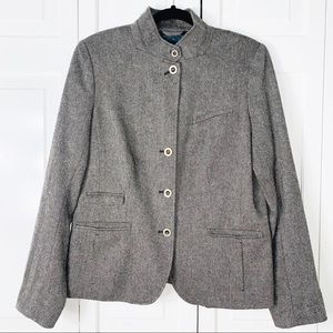 Gap Plaid Wool Mix Blazer 12